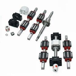 2pcs HGH20 HGR20 Linear guide + HGH20CA or HGW20cc + SFU1605 Ball screw High assembly square load ballscrew linear motion module