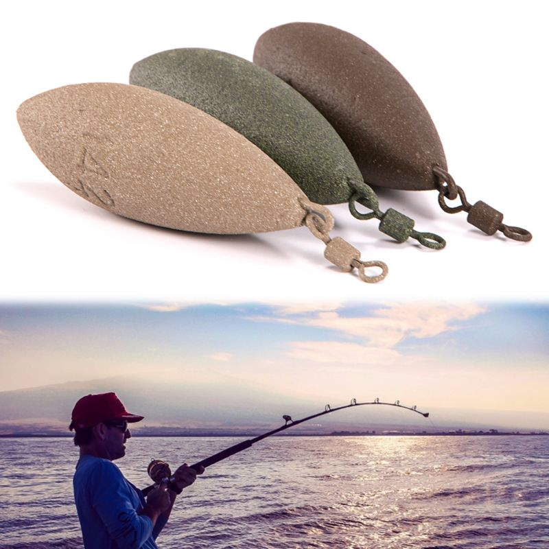 1 Pc Fishing Sinker Lead Weight Oval Shape Weights Swivel Tackle Carp Leads Accessories 71g 85g 99g 127g 142g in Fishing Tools from Sports Entertainment