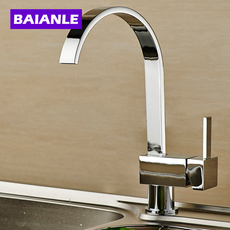 Kitchen Faucet Free Shipping Waterfall kitchen Sink Faucet Wholesale And Retail Deck Mount Basin Mixer Taps