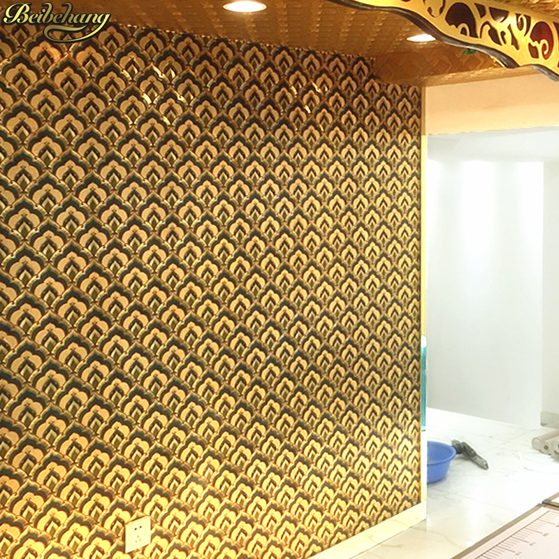 beibehang KTV hotel Scale gold foil Wall Paper papel de parede 3d Wallpaper for Walls living room luxury wallpaper-3d home decor designer wallpaper waterproof gold foil ktv ceiling mosaic wall paper kitchen living room home decor 10m papel de parede rolo