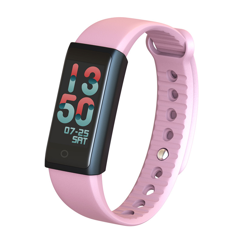FORCA F600 Smart Bracelet Sport Fitness Tracker Color Screen <font><b>Bluetooth</b></font> Watch Sleep Heart Rate Monitor Social <font><b>Media</b></font> Notification