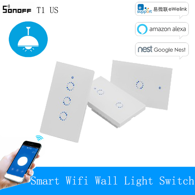 Sonoff T1 Rf Eu Wifi Switch Smart Wall Switch Touch Light