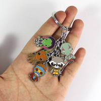 Guardians of The Galaxy Keychain Rocket Raccoon, Groot,  Star Lord, Gamora and Drax 3
