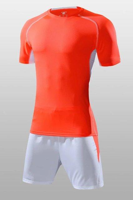 d9994d75 Boys blank soccer sets kids football jerseys and shorts youth running kits  futebol training kits customize