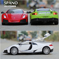 Hot New 1:32 SPANO Super Cars Metal Alloy Diecast Toy Car Model Miniature Scale Model Sound and Light Emulation Electric Car