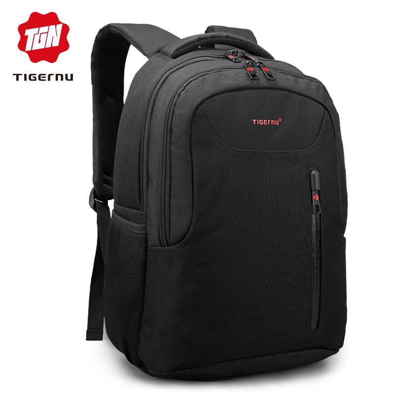 97121b647f60 Tigernu Brand Men Laptop Backpack Fashion Trend Soild School Backpack for  teenagers Female mochila Anti theft