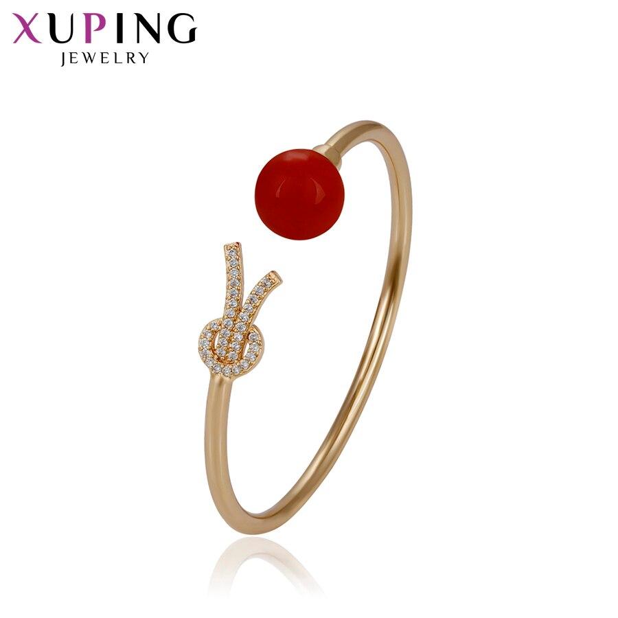 11,11 сделок Xuping прекрасный сладкий регулируемый браслет, золотые украшения Цвет покрытием для Для женщин подарок на День Благодарения S36-51755