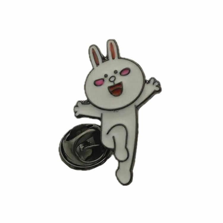 Coreano Del Fumetto Orso Bruno Spille per Le Donne Kony Coniglio di Sally Pollo Smalto Spille Giubbotti jeans Collare Distintivo Spilli Pulsante Gioielli