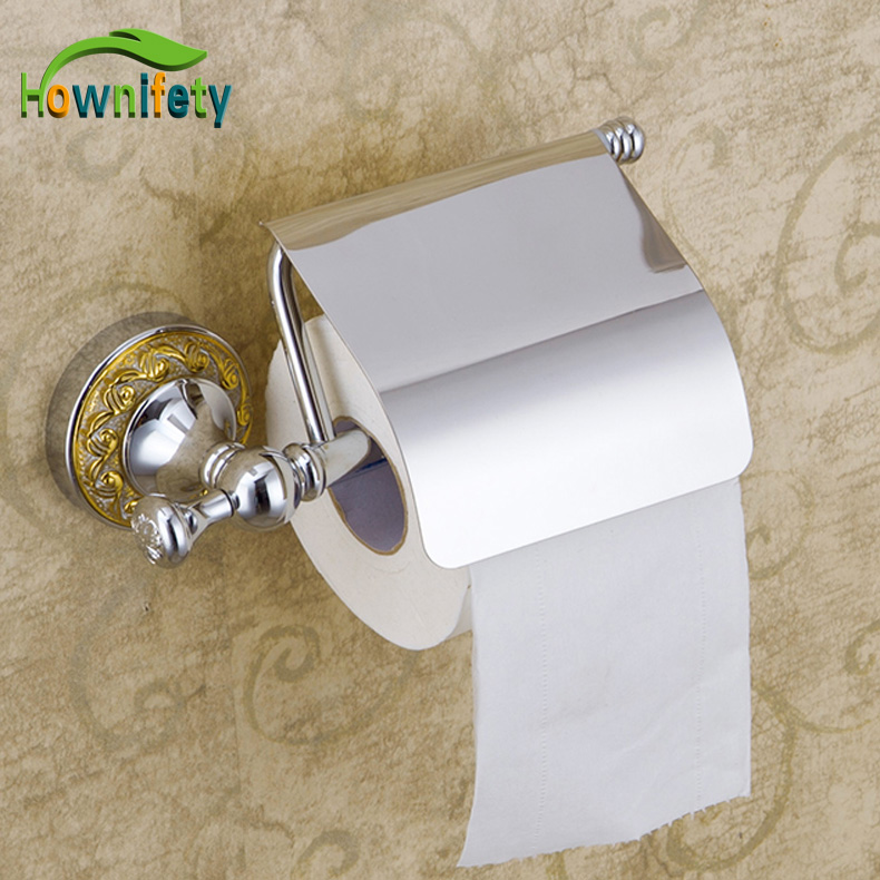 Chrome Polished Bathroom Wall Mounted Solid Brass Toilet Paper Holder mirror chrome bathroom polished toilet