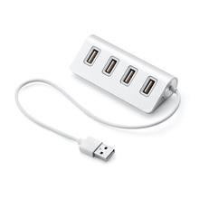 все цены на Micro USB Hub 2.0 Adapter High Speed Multi USB Splitter Adapter Portable Hubs USB 4 Ports Silver for Laptop PC Computer Use онлайн