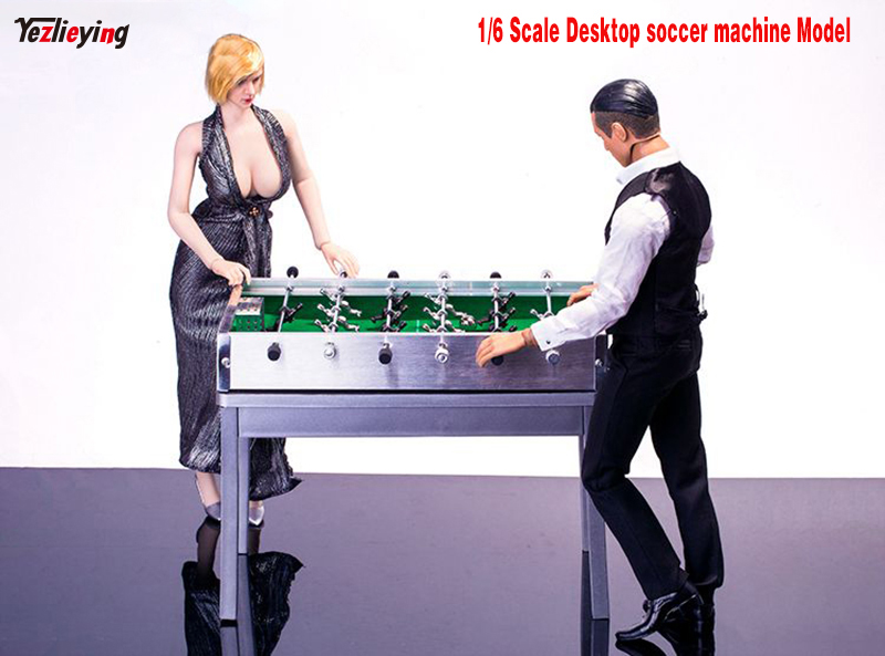 1/6 Scale INTERNATIONAL FOOTBALL Desktop Soccer Machine+Metal Table Set For The bar Model Scene Accessories Fit 12Action Figure