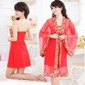 2016 зима плюс кимоно одеяние пижамы невесты халат китайский кимоно халаты для женщин дома невесты халат