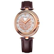 BUREI 13005 Швейцария часы женщины люксовый бренд благородный жемчуг леди серии Австрия алмаз сапфир браун relogio feminino