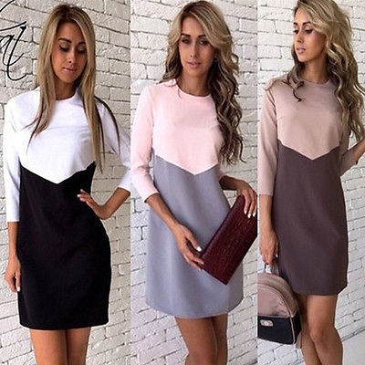 Women Simple Casual Dress Simple Brand Designer Long Sleeve American Apparel Summer Style dresses Tango Vestidos