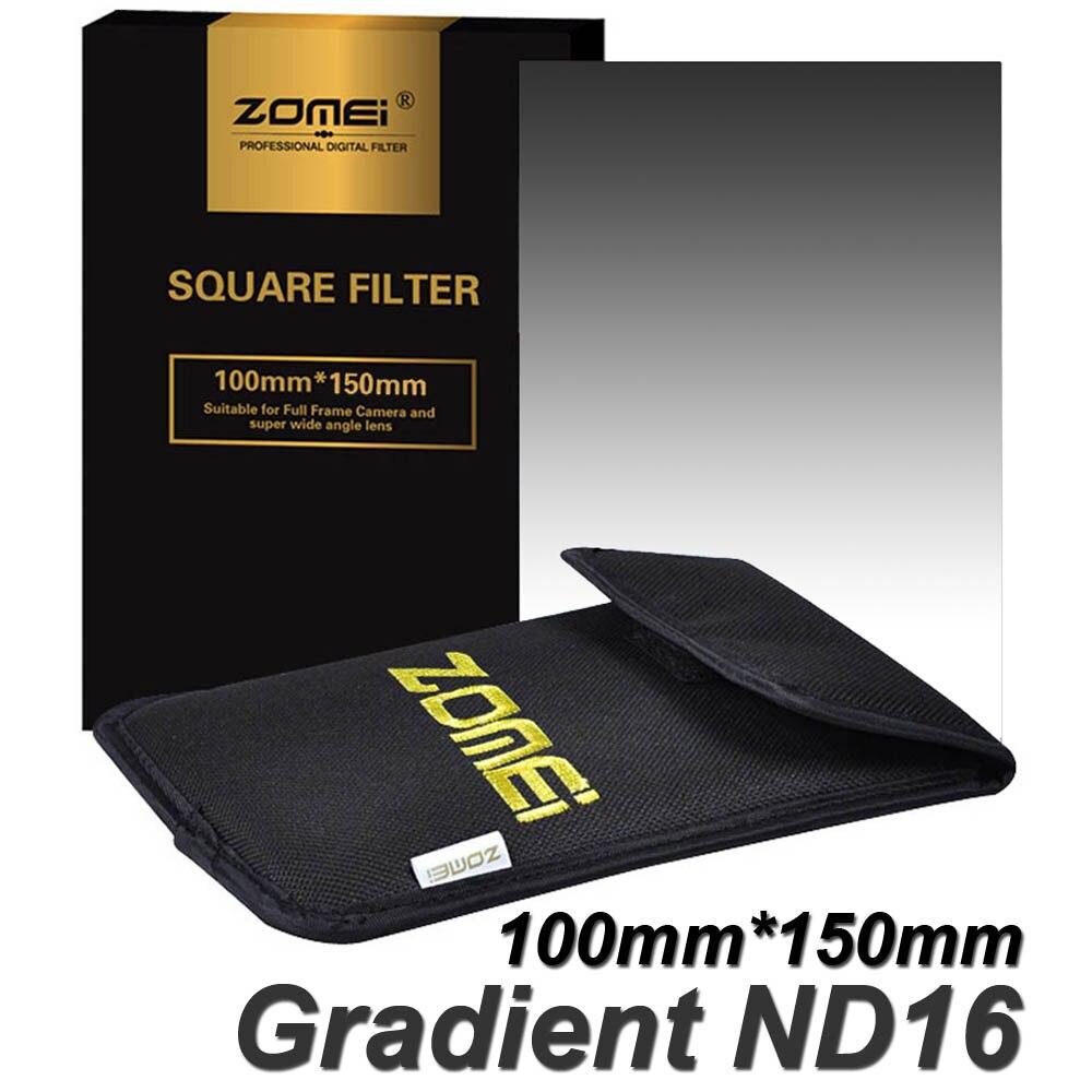 Zomei Filtre Carré 100mm x 150mm Diplômé de Densité Neutre Gris GND ND16 100mm * 150mm 100x150mm pour Cokin Z-PRO Série Titulaire