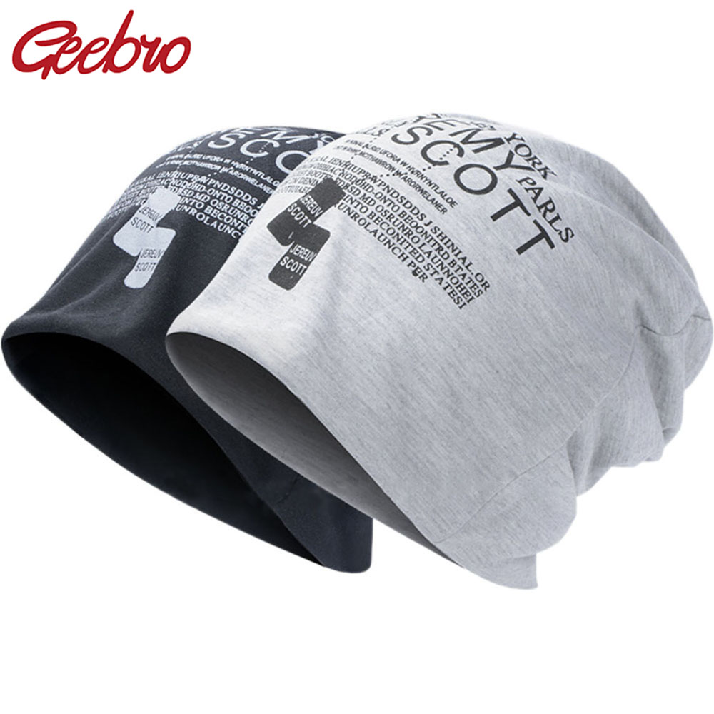 Geebro New Slouch Spring And Autumn Unisex Beanie Knitted Hat Women Hats Skullies Hip Hop Head Caps Girl Cap Balaclava Hats