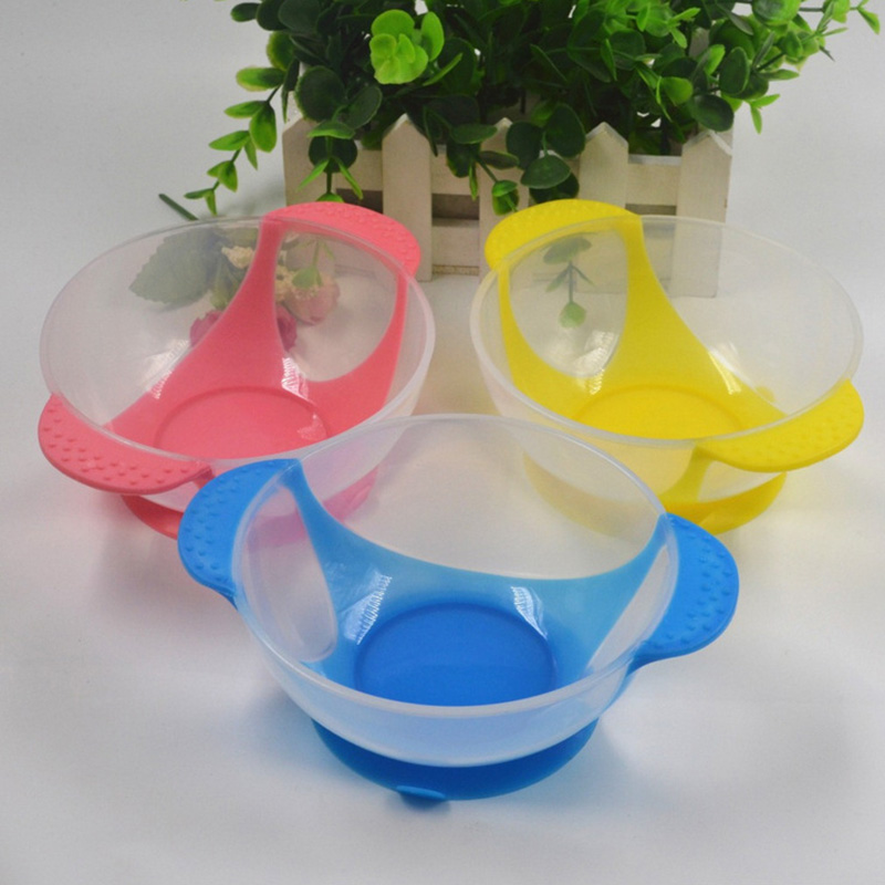 Baby Sucker Bowl Baby Silicone Dishes Kids Feeding Training Bowl