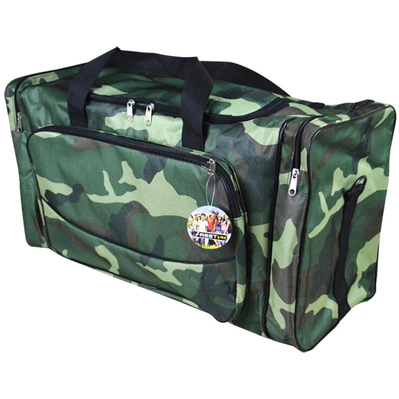 کیسه های سفر مردانه نایلون ضد آب 3 رنگ استتار بزرگ کیسه های بسته بندی هالداول 23.6x12.2x10.6 اینچ X098