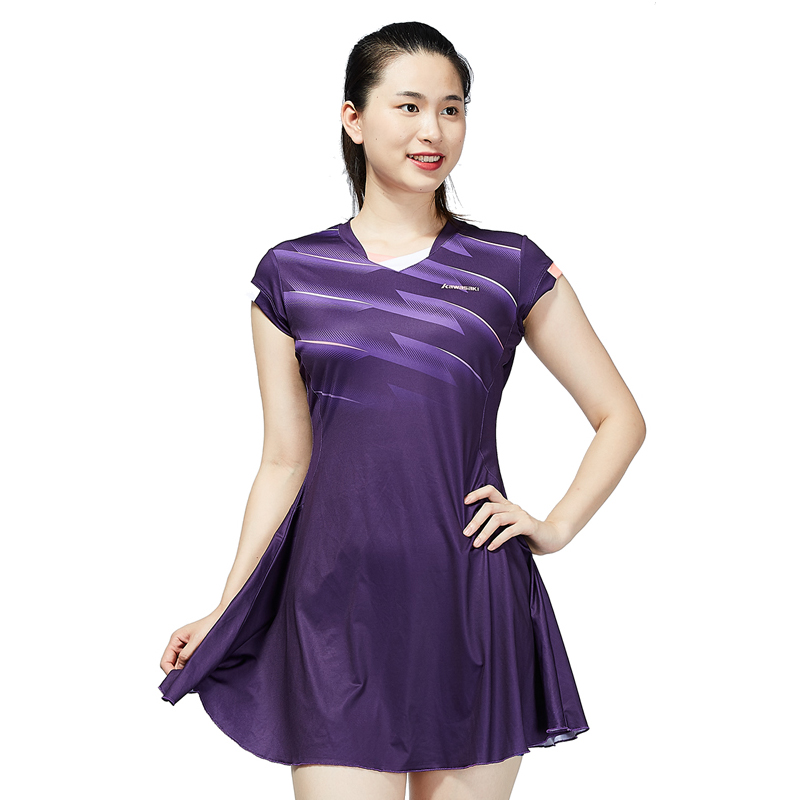 Kawasaki Sports Badminton Running Tennis Fitness Dress with Shorts new children s tennis badminton dress girls breathable quick drying summer tennis suit sports dress with short pants