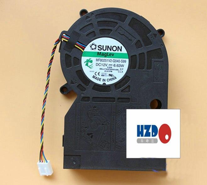 New Original SUNON MF80251V2-Q040-S99 DC12V 6.63W PVB120G12H-P01 0.75A P/N:0TKR4X-A00 Computer cooling fan стиральная машина siemens wm 10 n 040 oe