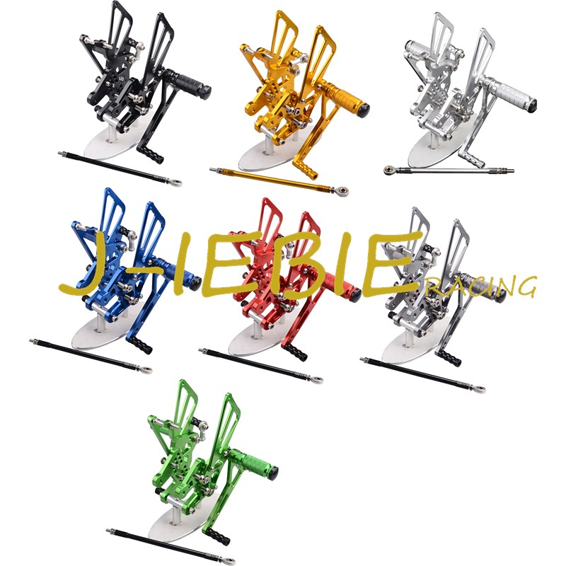 CNC Racing Rearset Adjustable Rear Sets Foot pegs Fit For Suzuki GSXR1000 GSXR 1000 2007 2008 K7 cnc aluminium steering stabilizer damper mounting bracket for suzuki gsxr1000 gsxr 1000 k7 2007 2008