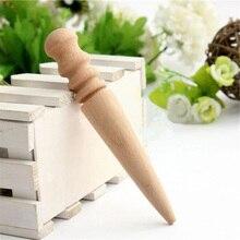 Инструмент для кожевенного ремесла кожаный край слайкер круглый деревянный многоразмерный полировщик кожи край Slicking полировка поставки 15 см