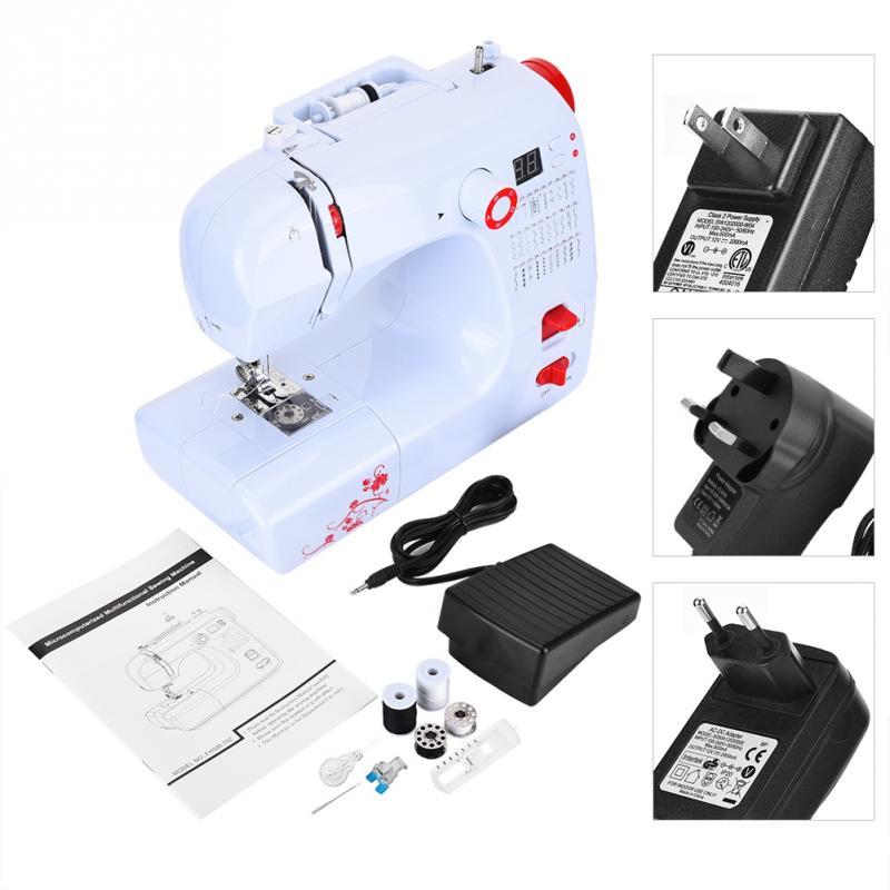 Mini ménage semi-automatique Machine à coudre surjet épais matériel Machine 110 V-240 V