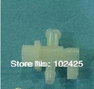 5Pcs Inkjet printer plastic 3 way valve For solvent large format printer