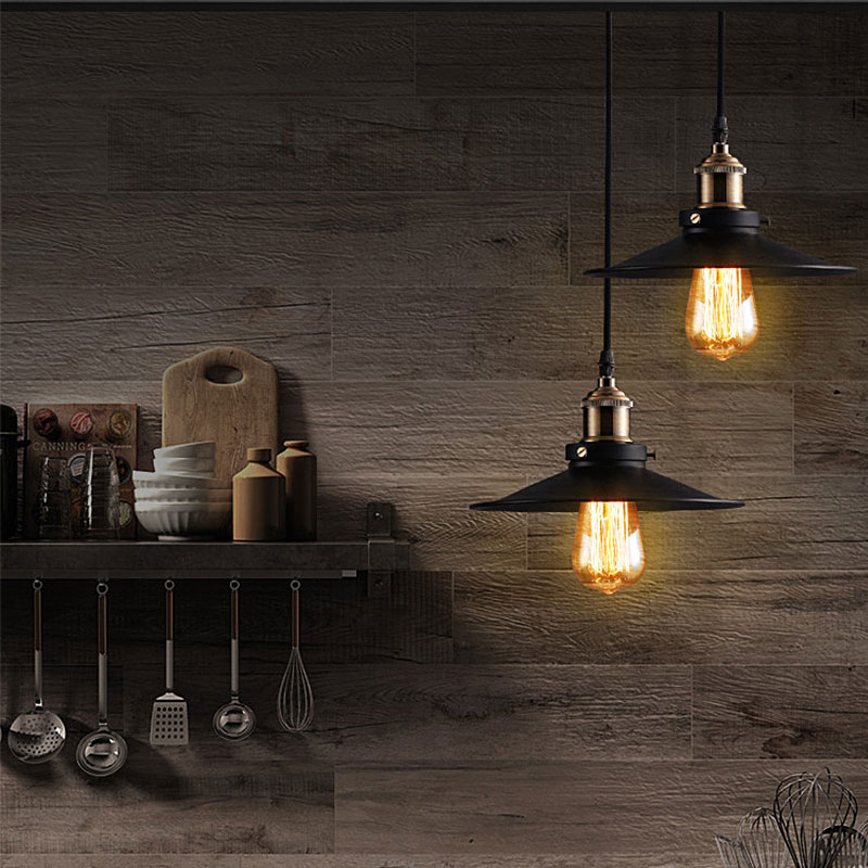 Image 5 - Vintage Industrial Pendant Light Retro Ceiling Lamp Nordic Iron Lampshade Loft Edison Lamp for Dining Room Lamp Restaurant Bar-in Pendant Lights from Lights & Lighting