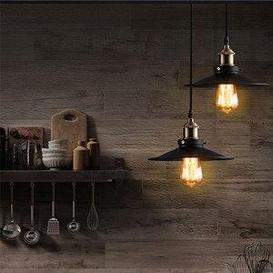 Image 5 - Vintage industriel suspension rétro plafonnier nordique fer abat jour Loft Edison lampe pour salle à manger lampe Restaurant barre