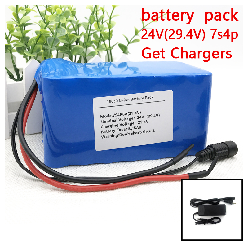 24V 8Ah 7S4P 18650 Battery li-ion battery 29.4v 8000mAh electric bicycle moped /electric/lithium ion battery pack liitokala 7s5p new victory 24v 10ah lithium battery electric bicycle 18650 24v 29 4v li ion battery no contains charger