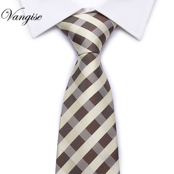 1200 Needles Neckties Plaid Striped Ties For Men 8cm Width Classic Mens Corbatas Gravata Business Party Neckwear  Tie