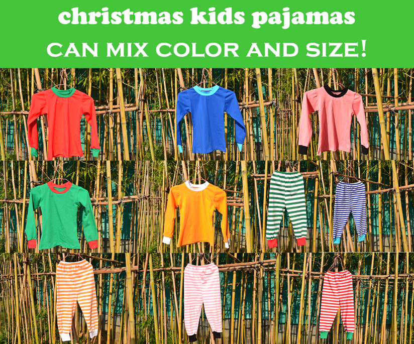 Wholesale christmas outfits for kids New cotton christmas pajamas clothes children winter wear