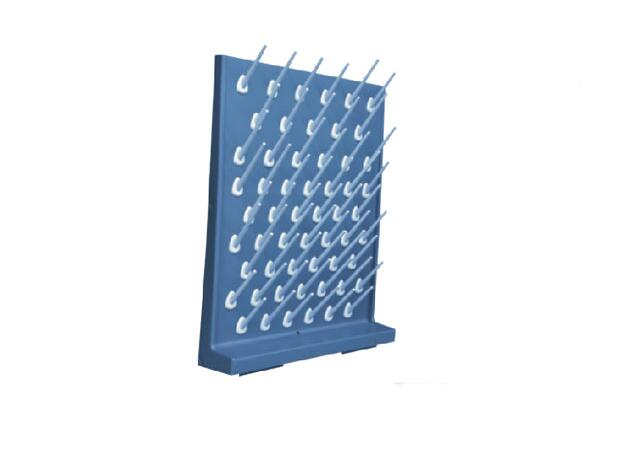 X001 Drying Rack Pegboard Polypropylene Color grey , 550mm * 440mm * 11.5 mm easy install brush drying rack tree for different standard holes random color