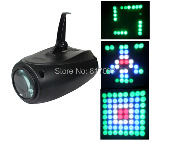 New led disco party light 64x5mm high bright Leds special effects lighting stage lighting projector DJ party bar pub Karaoke niugul dmx stage light mini 10w led spot moving head light led patterns lamp dj disco lighting 10w led gobo lights chandelier