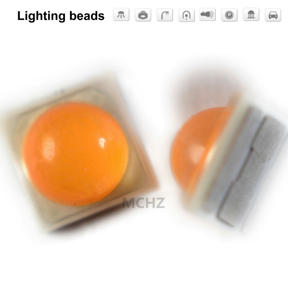 20PCS 3535 3W SMD LED Diode 3V-3.6V1000ma AMBER 1800k Infra-red Deep Red 610nm 615nm Red Blue Green Yellow