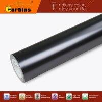 Carbins Matte Metallic Chrome Mirror Vinyl Car Wrap Tungsten Black