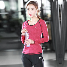 Yoga Shirt Women Sports  Workout Gym Fitness  Tees Exercise Training Running Clothing free shipping