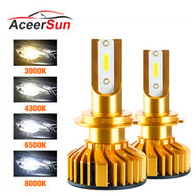 Aceersun Mini Canbus H7 LED H4 Car Headlight DOB 10000LM 3000K 4300K 6500K 8000K 12V 72W AUTO H1 H7 H11 H8 9005 9006 HB3 HB4(China)