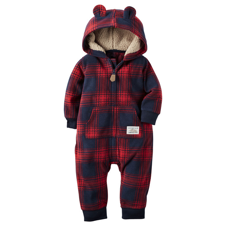 0~2Y Winter Autumn Long Sleeve Baby Boy Fleece Rompers Infant Girl Clothes Newborn Toddler Clothing Roupas Infantil  Jumpsuit baby overalls long sleeve rompers clothing cotton dog anima 2017 new autumn winter newborn girl boy jumpsuit hat indoor clothes
