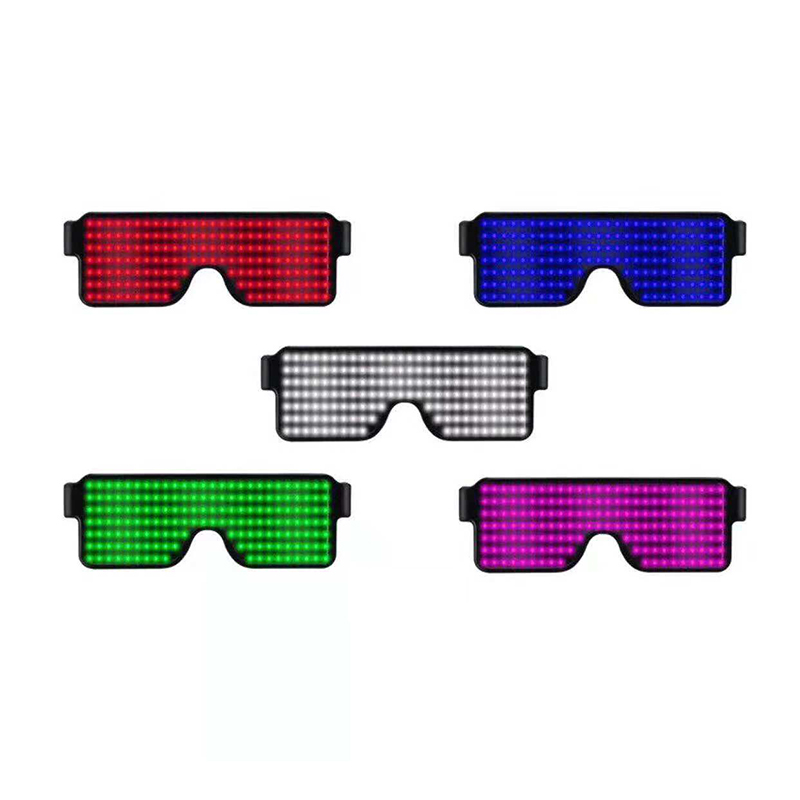 Latest Collection Of Led Glow Sunglass Glasses Neon Led Glasses Novelty Light Festival Party Sunglasses Led Light Party Decoration Night Vision Glass Men's Night Vision Glasses Apparel Accessories