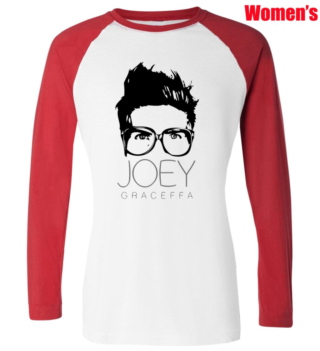 Design t shirt youtube - Aliexpress Com Buy Funny Youtube Celebrity Joey Graceffa Design Printed T Shirt Women S Girl S Tee Tops Red Or Black Sleeve From Reliable T Shirt Women