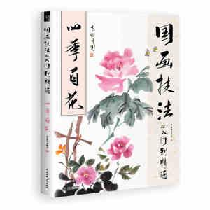 Книга для живописи в традиционном китайском стиле, 28x21 см, 128 страниц, Обучающая книга китайской живописи для 4 сезонов цветов, libros