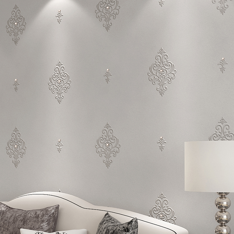 beibehang embroidery 3d diamond wallpaper luxury high-grade silk non-woven simple living room bedroom background wall cloth beibehang modern simple lattice flocking non woven pearl wallpapers living room bedroom background wall aisle wallpaper