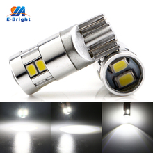 4pcs White Lens T10 3020 10 SMD LED Bulbs Car Signal Lamp Door Luggage Compartment License Plate Lights 12V 24V