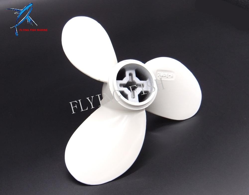 ④Aleación de aluminio Hélices 7 1/4x5-a para Yamaha 3.5hp ...
