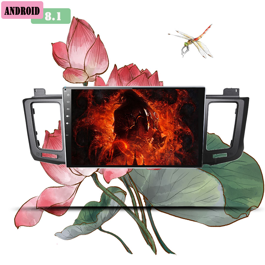 2+32G Android 8.1 Auto 3/4G Car Radio Multimedia Video Audio Player WiFi Navigation GPS For Toyota RAV4 2013-18 Head Unit no DVD