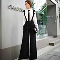 Dabuwawa black wide leg loose all match overall