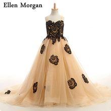 2c0bfe91b3f70 Gold Flower Girls Dresses Promotion-Shop for Promotional Gold Flower ...