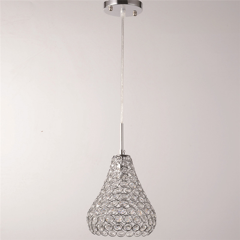European Iron Crystal Chandelier Modern Simple Bedroom Crystal Light Small Chandelier Aisle Restaurant Round Chandelier WPL280 modern fashion simple circular wooden handle aluminum lid chandelier made of iron painting diameter 50cm ac110 240v